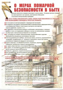 Меры пожарной безопасности в быту