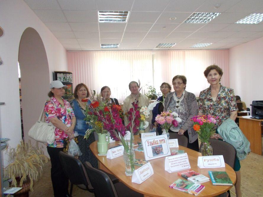 Наши друзья из Центра социального обслуживания населения «Светоч» на открытии выставки цветов