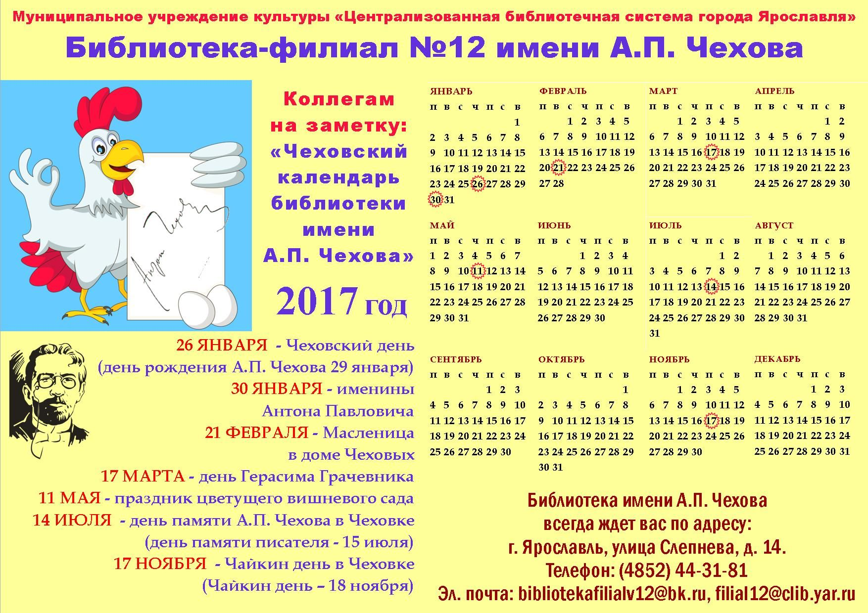 Дни именин в календаре