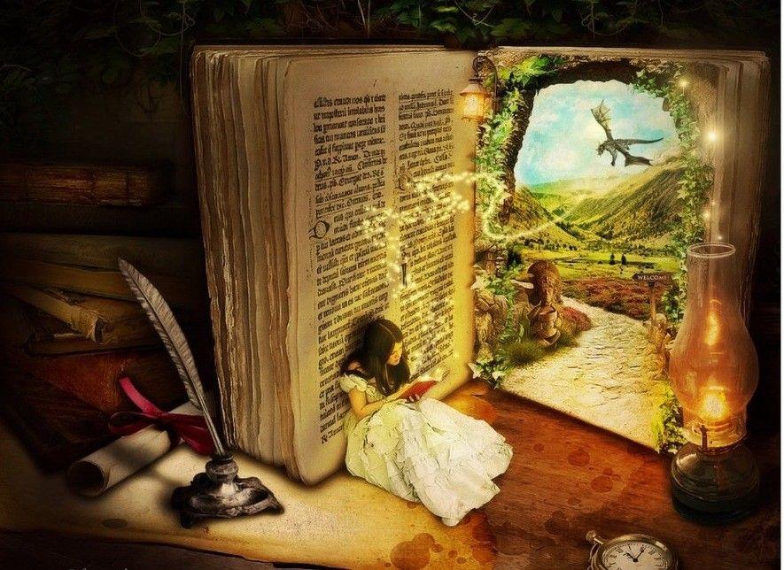 Анимация лет, открытка книга сказок