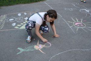 «Мой любимый книжный герой», конкурс детских рисунков на асфальте